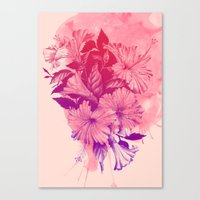 hibiscus Canvas Prints featuring Hibiscus by Magenda