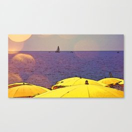 Learning to Sail in France Canvas Print