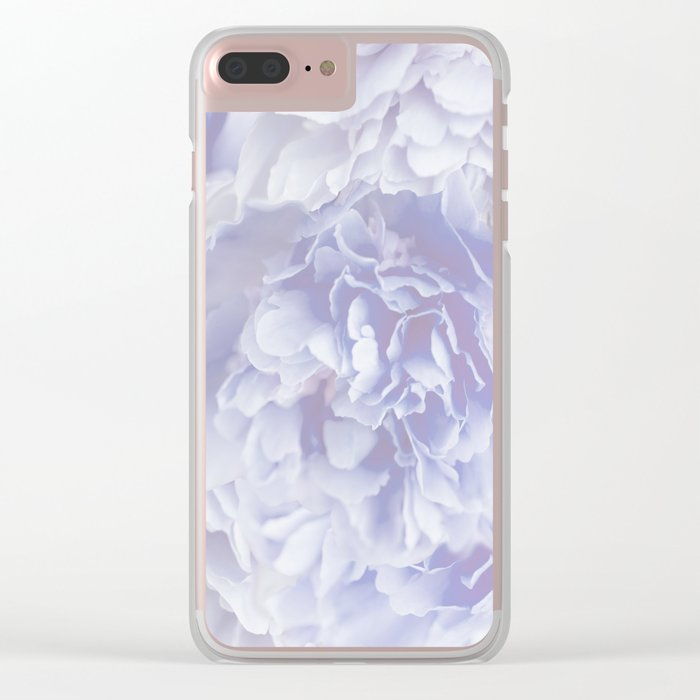 Flower Bouquet In Pastel Blue Color - #society6 #buyart Clear iPhone Case