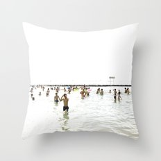 Waikiki Beach Throw Pillow