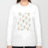 baloon Long Sleeve T-shirts featuring baloon collage pattern  by flying bathtub