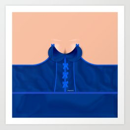 Lingeramas - Sexy Royal Blue Lingerie Top Art Print