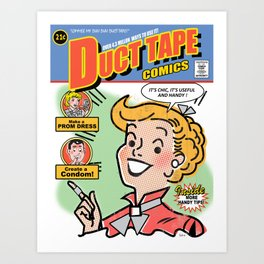 Duct Tape Comics Art Print