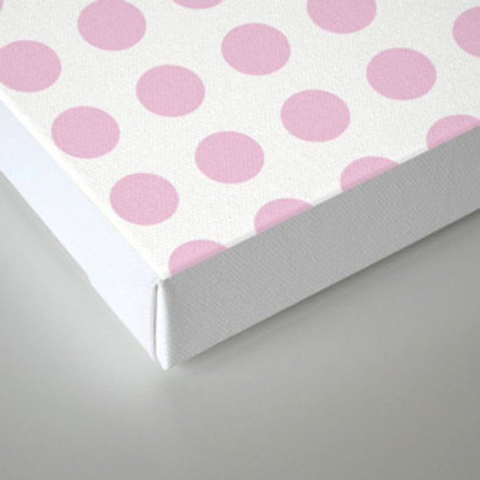 Simply Polka Dots in Blush Pink Canvas Print