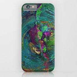 Abstract Distressed Mandala 638 iPhone Case