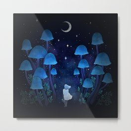 Fungi Forest Metal Print