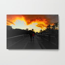 Juno Beach Sunset Metal Print