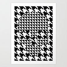 houndstooth skull #1 Art Print