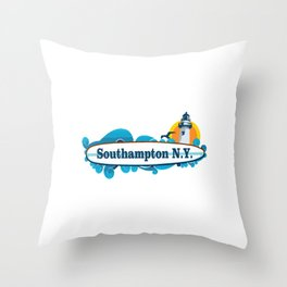 Southampton - Long Island. Throw Pillow