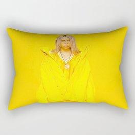 Billy Eilish Yellow Rectangular Pillow