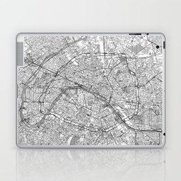 Paris Map Line Laptop & iPad Skin