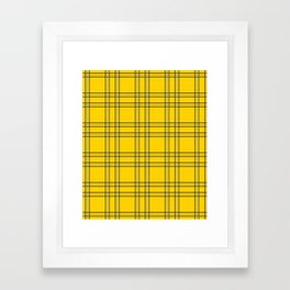 Clueless Plaid Framed Art Print