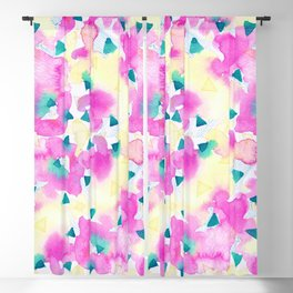 Pink and Blue Summer Breeze Blackout Curtain