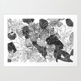 BOTANICAL MESS Art Print