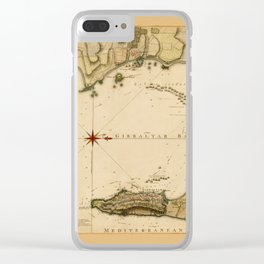 Map Of Gibraltar 1783 Clear iPhone Case