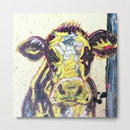 Paint03 - Sweetie Pie the Cow Metal Print