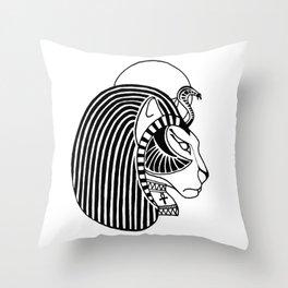 Tefnut Egyptian Goddess Throw Pillow
