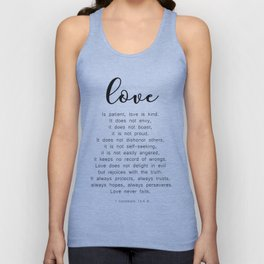 Love Never Fails #minimalism Unisex Tank Top