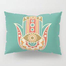 Colorful Hamsa Hand Pillow Sham