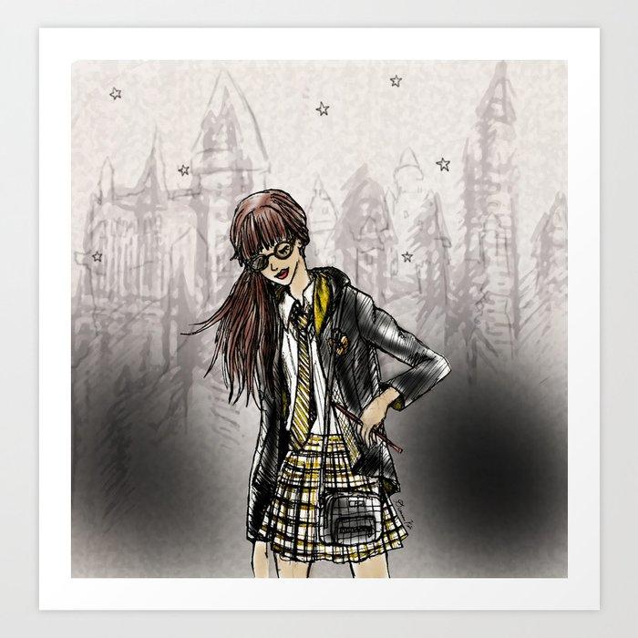 Wizard School Dreams - Hufflpuff Kunstdrucke