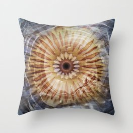 Underwater Sea Star Mandala Throw Pillow