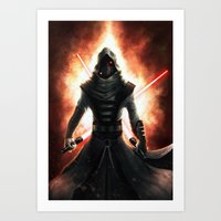 dark side Art Prints featuring Dark side by Michele Frigo