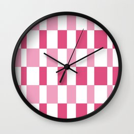 Gradient prism pink and fandango Wall Clock