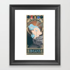 Malta Nouveau -  Sea Prince and the Fire Child Framed Art Print