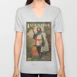 Vintage poster - Ivanhoe Unisex V-Neck