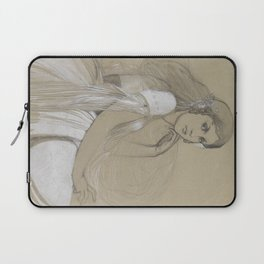 Alphonse Mucha - Portrait of Jaroslava Muchová (Daughter) Laptop Sleeve