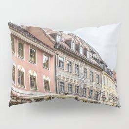 Fussen. Alpine town street view Pillow Sham