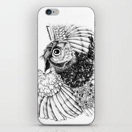Black & White Zentangle Owl Pen Drawing iPhone Skin