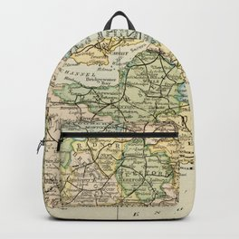 England and Wales Vintage Map Backpack