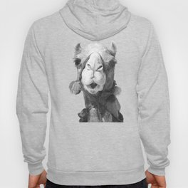 Black and White Camel Portrait Hoody
