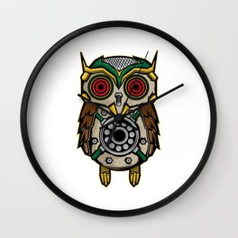 Owl Lover? A Perfect Owls Tee For You Made of Tools Owlet T-shirt Design Nocturnal Night Birdline Wall Clock
