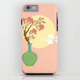 Chinese Antique - vase & full moon iPhone Case