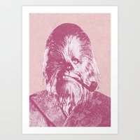 chewbacca Art Prints featuring Chewbacca by NJ-Illustrations