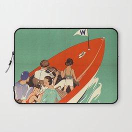Lake Winnipesaukee - Vintage Poster Laptop Sleeve