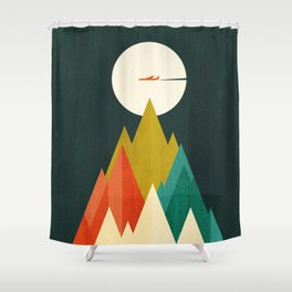 Life is a travel Shower Curtain