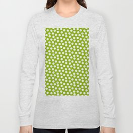 White Polka Dots on Fresh Spring Green - Mix & Match with Simplicty of life Long Sleeve T-shirt