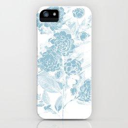 Blue Flora iPhone Case