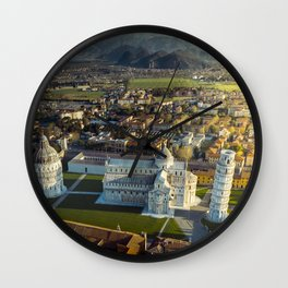 Pisa from a different light Wall Clock
