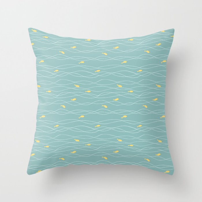 In the Waves Throw Pillow