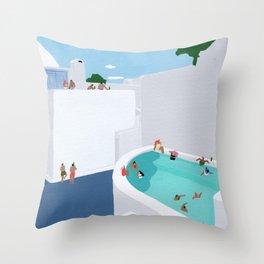 Santorini Throw Pillow