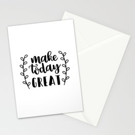 Inspirational and motivational designs Stationery Cards