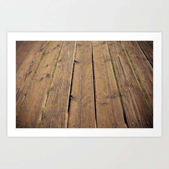 the wood Art Print