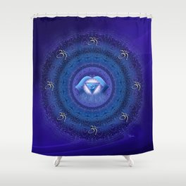 Ajna Chakra Mandala  Shower Curtain