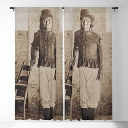 Geronimo - Very Rare 1900 Native American Apache tribe black and white photograph - photography  Blackout Curtain