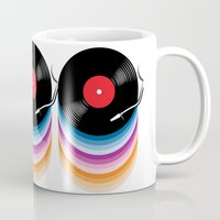 vinyl Mugs featuring Vinyl by jun salazar