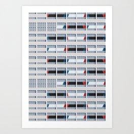 S03-2 - Facade Le Corbusier Art Print